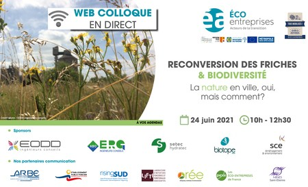 Web colloque Reconversion des friches & Biodiversité