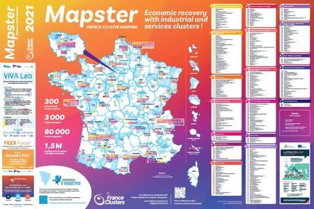 Sortie de l'édition 2021 du Poster Mapster de France Clusters