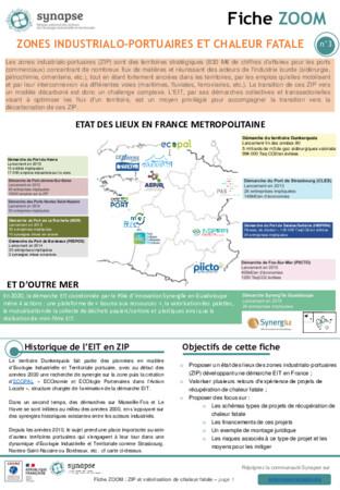 Fiche ZOOM : Zones industrialo-portuaires et chaleur fatale