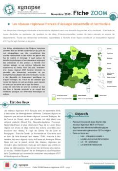 Fiche ZOOM n°1 : Les réseaux régionaux français d'EIT