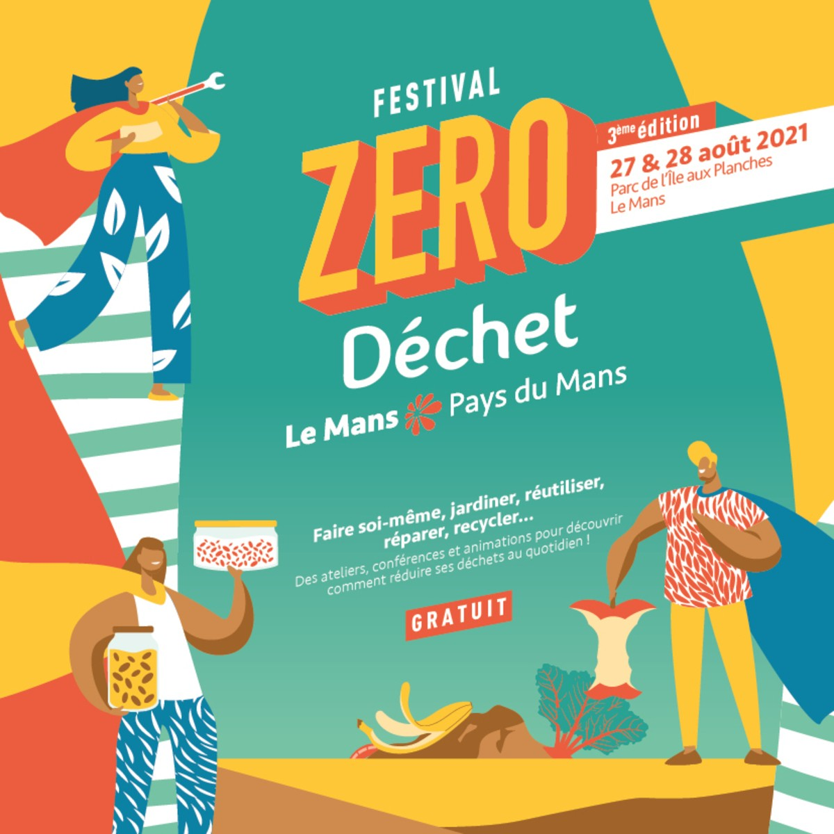 Festival Zéro Déchet Le Mans: 3ème édition