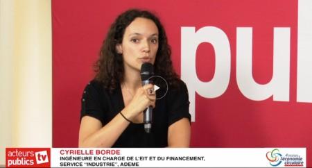 Assises de l'économie circulaire : Témoignage de Cyrielle Borde (ADEME)