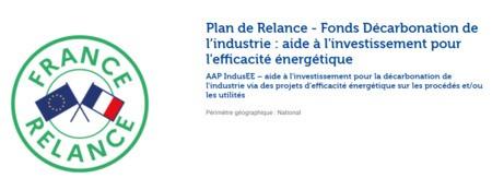 Appel à projet ADEME Décarbonation de l'industrie