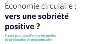 Livre blanc GREENFLEX « Economie circulaire : vers une sobriété positive ?