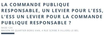 La commande publique responsable, un levier pour l'ESS, l'ESS un levier pour la commande publique responsable