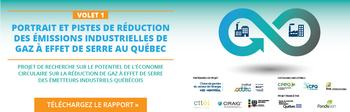 Portrait et pistes de réduction des émissions de GES industrielles au Québec - Volet 1