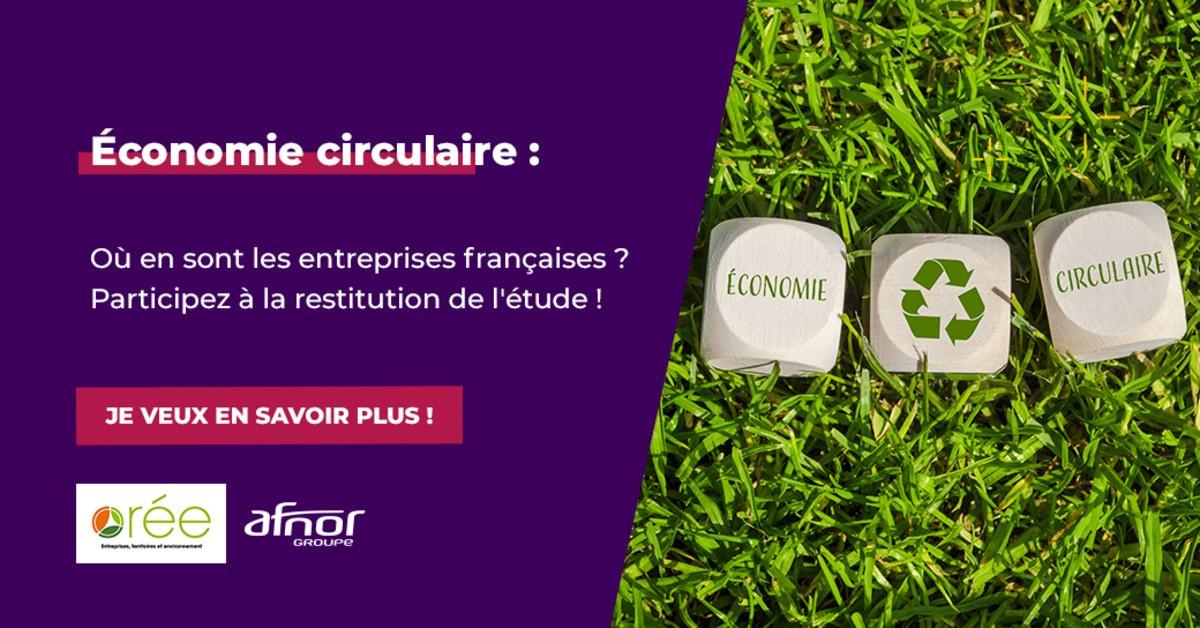Restitution d'étude : l'économie circulaire et les entreprises françaises