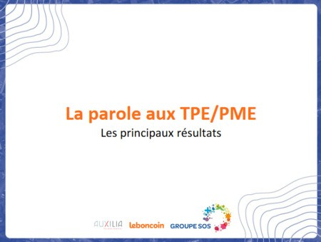 La parole aux TPE PME - résultats de l'enquête