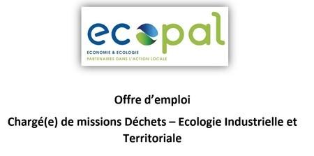 Ecopal recherche un(e) Chargé(e) de missions Déchets - Ecologie Industrielle et Territoriale