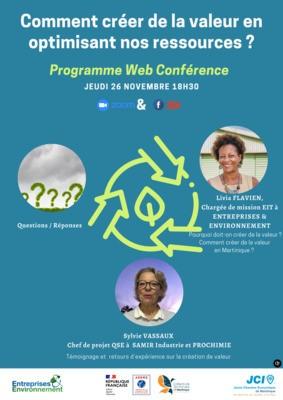 Web conférence EIT Martinique : comment créer de la valeur en optimisant nos ressources ?
