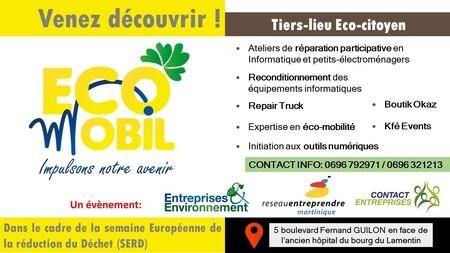 Visite de l'éco lieu ECO MOBIL en Martinique à l'occasion de la SERD