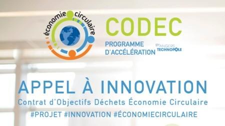 Angers : Appel à innovation économie circulaire avec l'accélérateur CODEC.