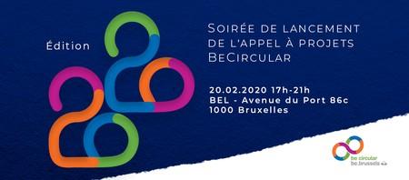 Soirée de Lancement de l'Appel à projets BeCircular 2020