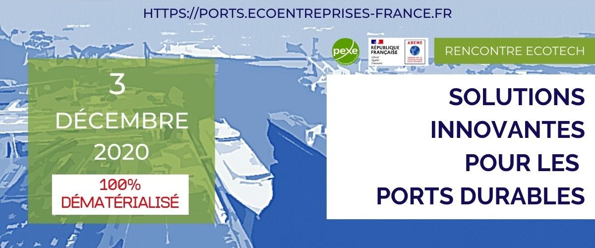 Solutions innovantes pour les ports durables : Annuaire et Rencontre du 3 décembre 2020
