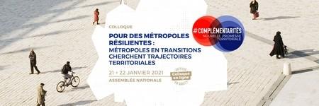 [COLLOQUE] Pour des métropoles résilientes - Métropoles en transition cherchent trajectoires territoriales
