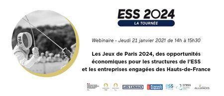 [WEBINAIRE] Les Jeux Olympiques et Paralympiques de 2024, des opportunités économiques pour les structures de l'ESS et entreprises engagées en Hauts-de-France