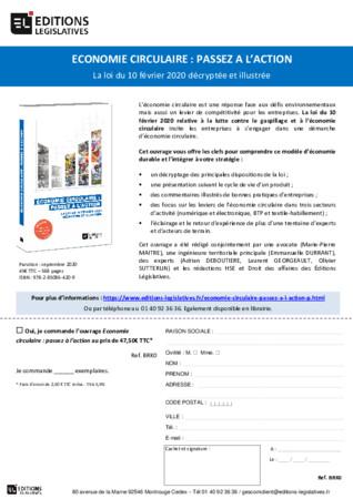 Parution de l'ouvrage « Économie circulaire : passez à l'action » par les Éditions Législatives
