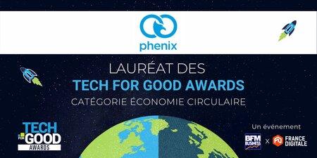 [Voir ou revoir] Phenix, lauréat économie circulaire des Tech For Good Awards 2021