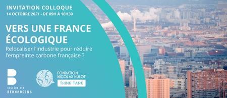 Colloque : relocalisation de l'industrie et empreinte carbone