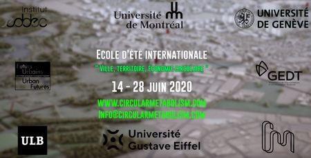 Ecole d'été internationale : Ville, territoire, économie circulaire