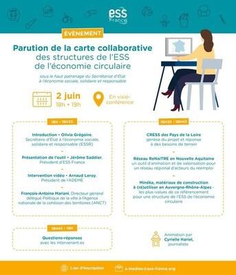Lancement de la carte des acteurs de l'ESS de l'économie circulaire sous le haut patronage d'Olivia Grégoire